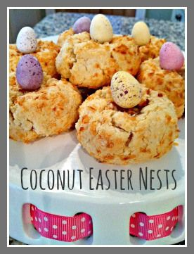 Coconut Easter Nest Treats