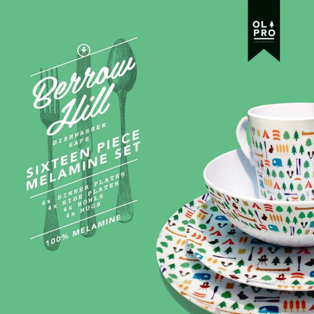 Win a 16 Piece Melamine Crockery Set from OLPro (RRP £39.99)