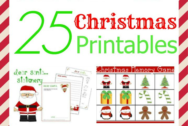 25 Christmas Printables for the Holidays
